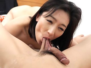 asian brunette blowjob